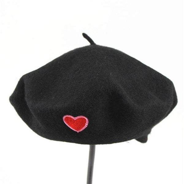 Fashion cotton embroidered casual beret