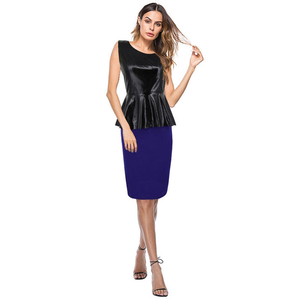 The New Women's PU Leather  Dress