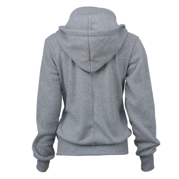 2017 autumn and winter new women's hooded ladies sweater long-sleeved slim hoodie
