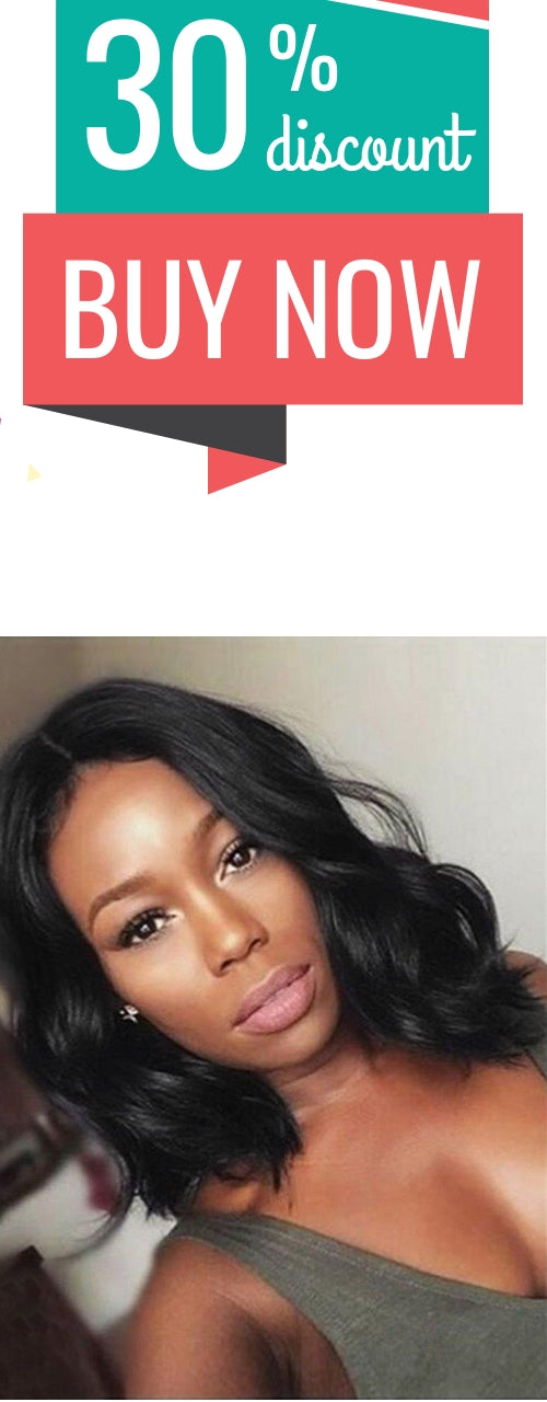 Short Center Parting Body Wave Synthetic Lace Front Wig