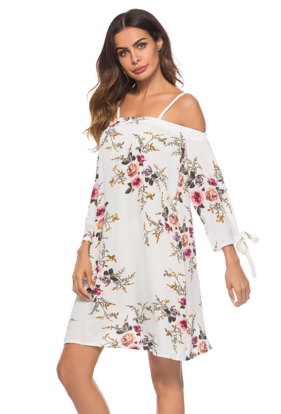 Plus Size Criss Cross Printed Cami Dress