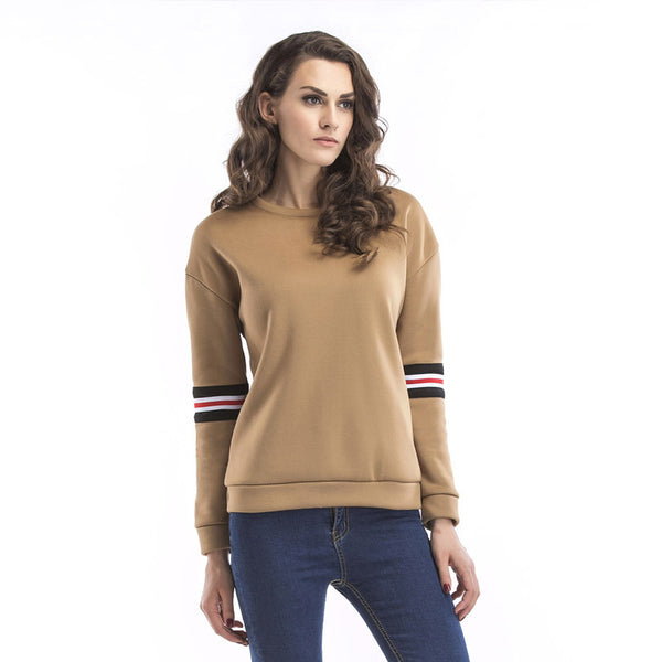 2017 new long sleeve plus velvet round neck letter embroidery sweater