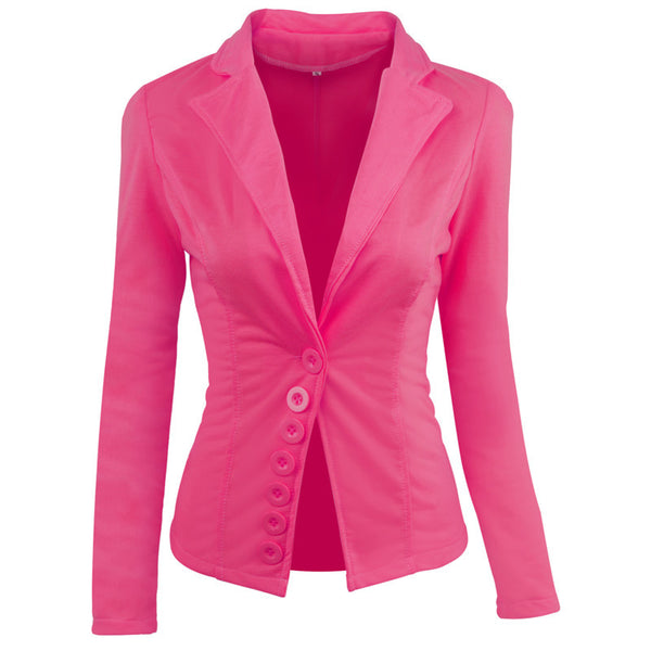 201 waist long sleeve small suit ladies slim short jacket