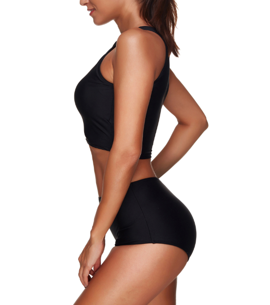 High Neck Racerback Bikini Set