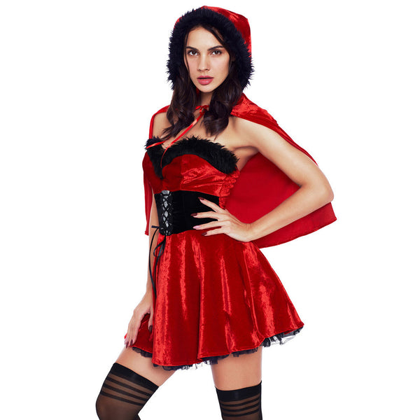 New Halloween role playing neckline with lace Christmas costume stage performance clothing