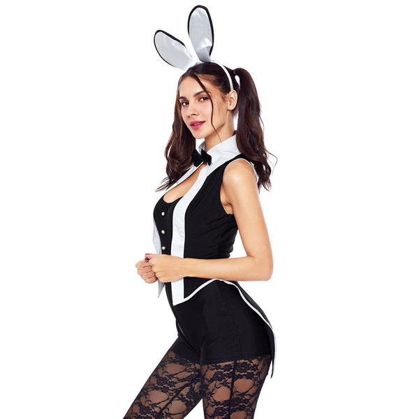 New stage costume role playing Halloween sexy rabbit costume five-piece