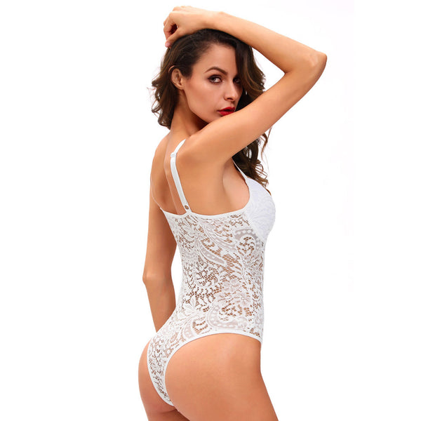 New one-piece dress lace sexy hanging lead sleeveless tight-fitting emotional pajamas