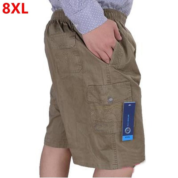 Large size men's casual shorts loose cotton shorts