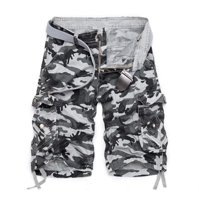 Camouflage loose shorts men's large size sports shorts