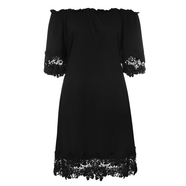 Chiffon XL off-the-shoulder lace sexy beach dress