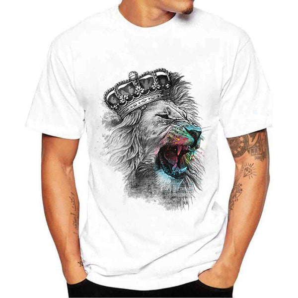 Fashion simple round neck T-shirt printing fashion men's clothing