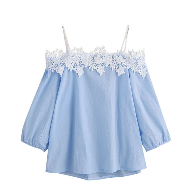 Women's off-the-shoulder lace sling top