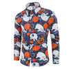 Men Shirt Casual Halloween Printed Long sleeve Top Blouse Plus Size hawaiian shirt camisa masculina streetwear homme