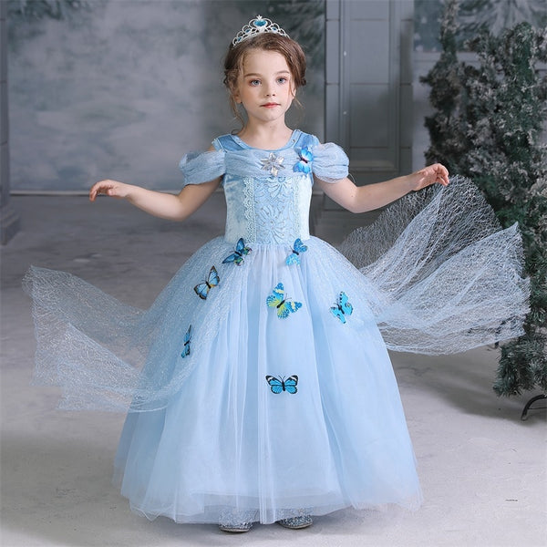 Costumes|||Cosplay|||Other Cosplay===Halloween Costume For Kids Girl 4 8 10 Years Cosplay Clothes Party Dress Princess Dresses For Girls Anna Elsa Birthday Dress Up