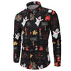 Men Shirt Casual Halloween Long sleeve Top Blouse Plus Size hawaiian shirt camisa masculina mise streetwear shirts