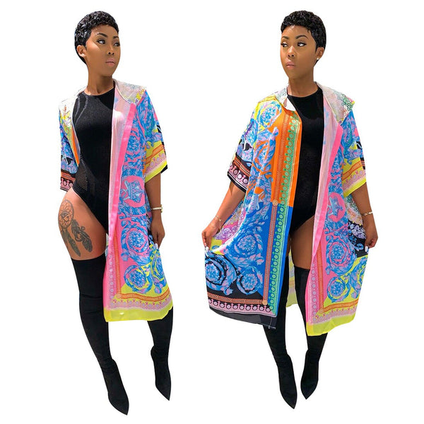 Clothing, Shoes & Accessories/Women's Clothing/Coats & Jackets---African Dresses for Women New Cloak Of The Coat Riche Bazin Dress For Sexy Cardigan