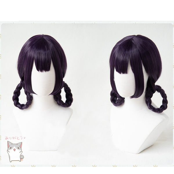 Costumes|||Cosplay|||Other Cosplay===FGO Fate Grand Order Shuten-douji Zombie Wig Cheongsam Braids Cosplay Synthetic Purple Hair for Adult Halloween Role Play