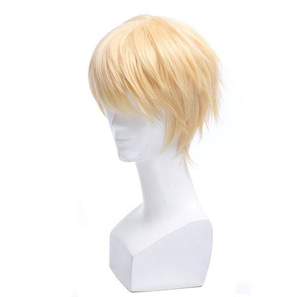 Costumes|||Cosplay|||Cosplay Wigs===L-email wig Seraph of the end Mikaela Hyakuya Cosplay Wigs 30cm Short Heat Resistant Synthetic Hair Perucas Cosplay Wig