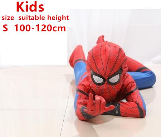 spiderman costume kids girl child the amazing spider man mask costume suit boys lycra black red halloween adult men Cosplay