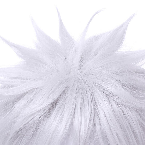 Costumes|||Cosplay|||Cosplay Wigs===L-email wig New Gintama Gintoki Sakata Cosplay Wigs 35cm/13.8inches Short White Men Synthetic Hair Perucas Cosplay Wig