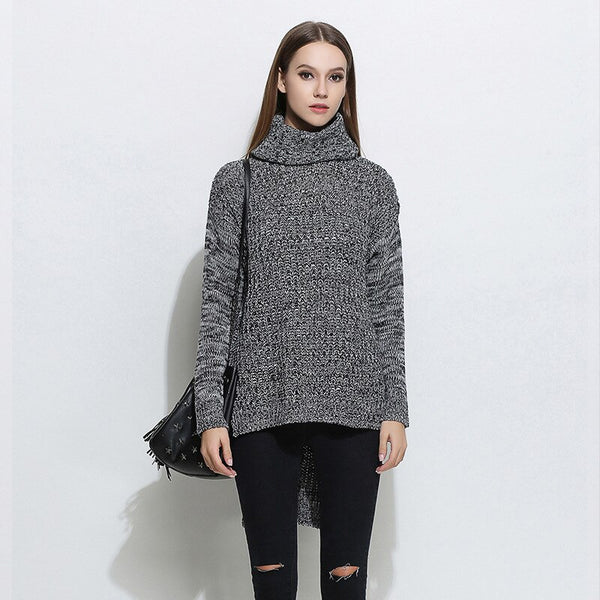 Ccibuy Turtleneck Sweater Long Sleeve Women's Winter Pull Femme Hiver Casual Loose Kintted Pullover Knitwear Jumpers for Women