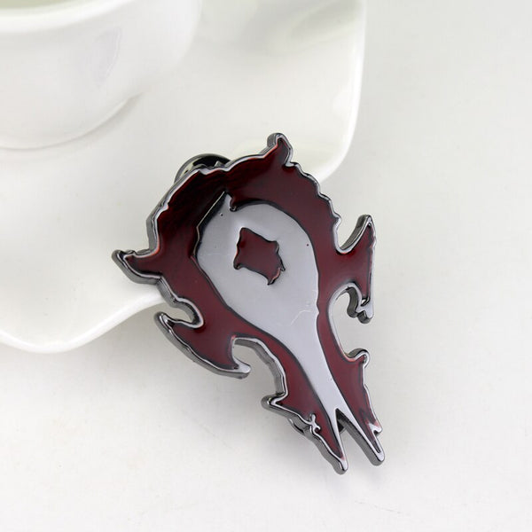 Costumes|||Cosplay|||Anime Merchandise|||Anime Jewelry|||Anime Necklaces===HEYu New Fashion Game Movie WOW Alloy Metal Badge Brooch DOTA Alliance Horde Cosplay Brooch Pins for Shirt Jewelry