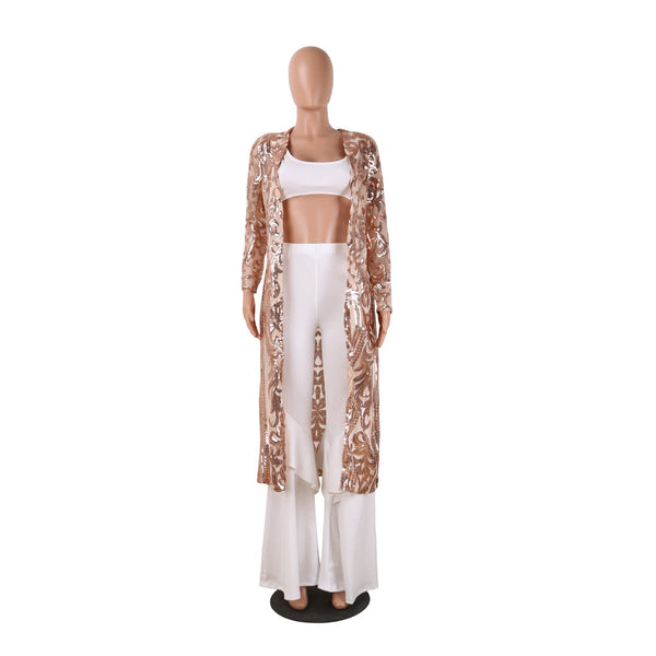 Clothing, Shoes & Accessories/Women's Clothing/Coats & Jackets---Africa Clothing New Cloak Of The Coat Riche Bazin African Dress For Women Sequins Perspective Cardigan