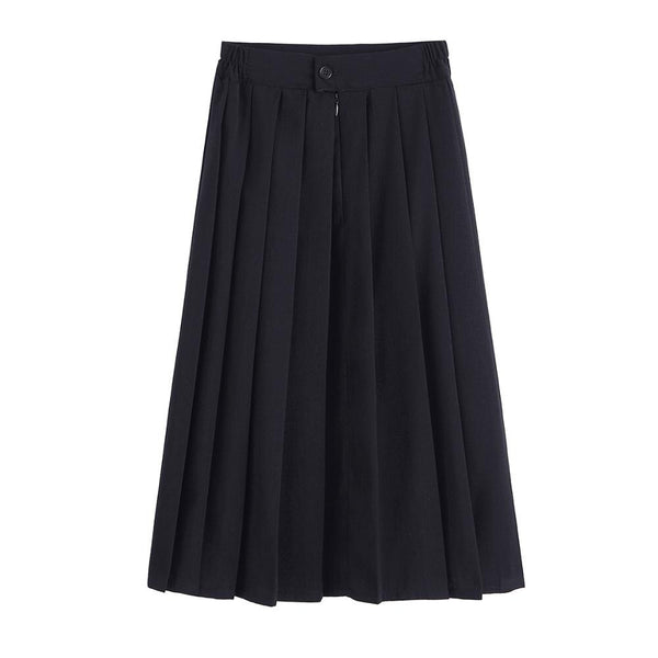 Costumes|||Cosplay|||Anime Merchandise|||School Uniform|||School Uniform Outfit===Women JK High School Uniforms Students Girls Harajuku Preppy Style Black High Waist Plus Size Pleated Skirt  5XL