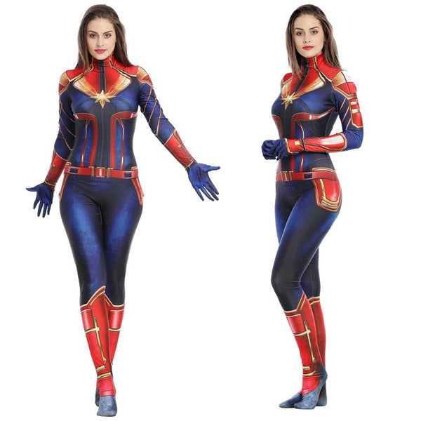 Costumes|||Cosplay|||Movie TV Drama Cosplay Costumes|||Marvel Comics===Marvel Captain Cosplay in one costume Cosplay hero Captain Marvel as Halloween decoration
