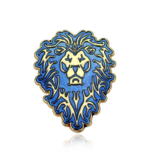 Hot Sale Fashion Jewelry brooch pin World of Warcraft Horde Icon Brooch Badge Alliance Horde Cosplay Anime Brooches For Man Gift