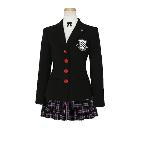 Costumes|||Cosplay|||Anime Merchandise|||School Uniform|||School Uniform Outfit===Persona 5 Makoto Nijima Cosplay Costumes Women School Uniform For Girls top+coat+skirt