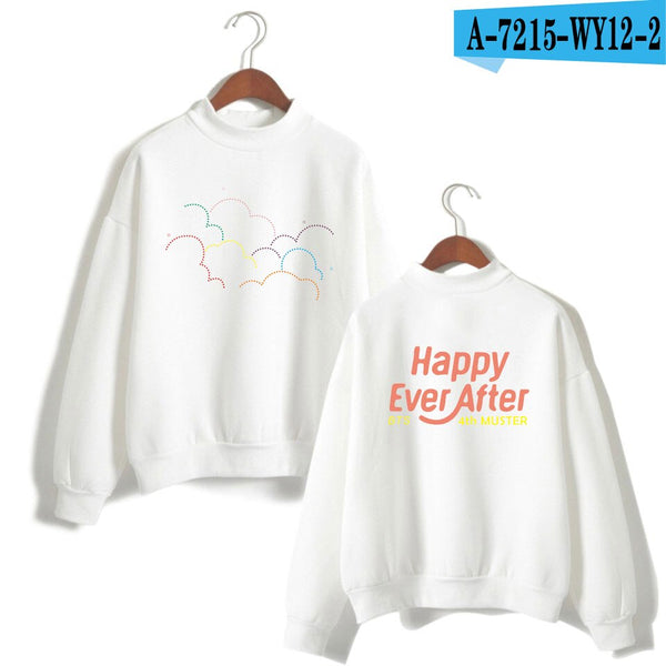 high collar long-sleeved hooded men's sweatshirt loose men