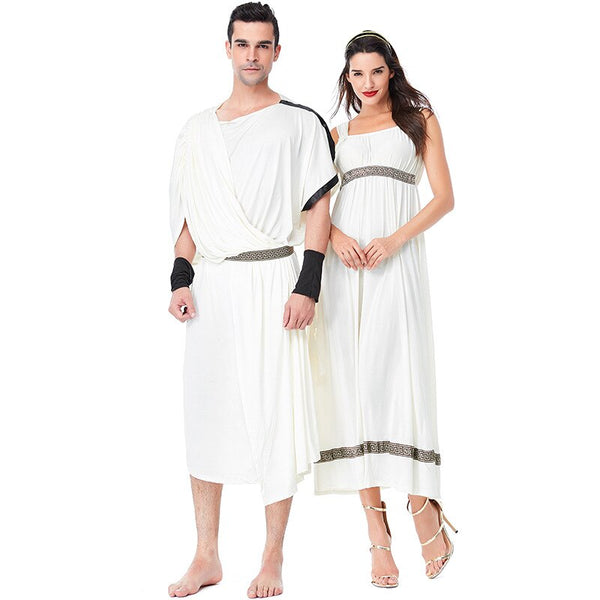 Clothing, Shoes & Accessories/Costumes & Reenactment Attire/Costumes/Women---Umorden Men's Toga Costume Women's Greek Olympic Goddess Costumes Dress Halloween Carnival Purim Party Fancy Cosplay