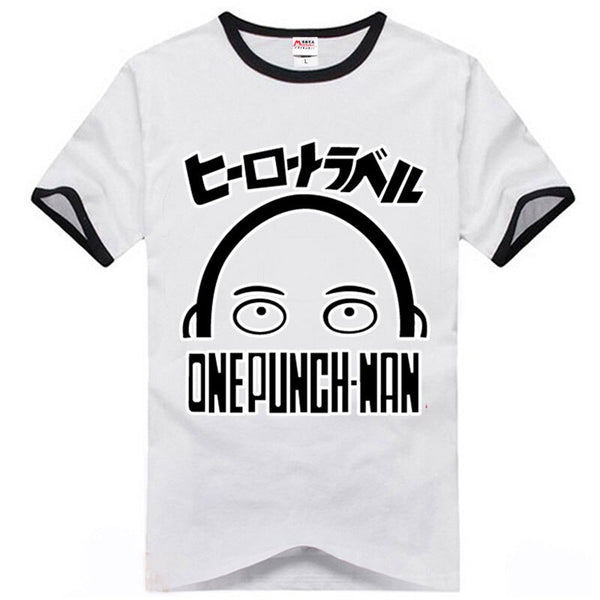 Anime Wanpanman Saitama T-Shirts Short Raglan Sleeves Bottoming Slim Tee Shirt O-Neck Athleisure Casual Tshirt Cosplay Tops