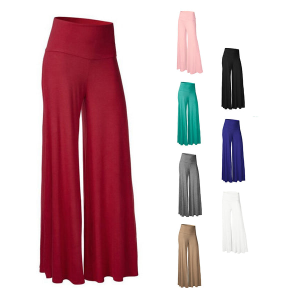 Clothing, Shoes & Accessories/Women's Clothing/Pants---Femme Spring Autumn Mid Waist Wide Leg Trousers Simple Fashion Casual Women