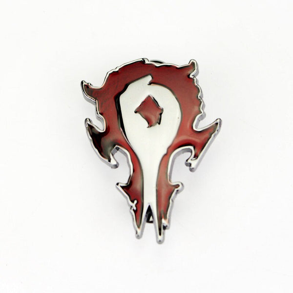 HEYu New Fashion Game Movie WOW Alloy Metal Badge Brooch DOTA Alliance Horde Cosplay Brooch Pins for Shirt Jewelry (Red)