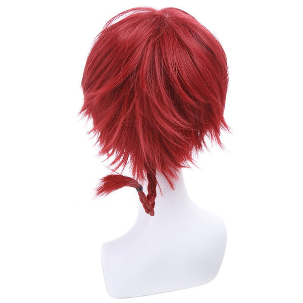 Costumes|||Cosplay|||Cosplay Wigs|||Miscellaneous===L-email wig Brand New Ranma 1/2 Ranma Saotome Cosplay Wigs 25cm Red Burgundy Short Synthetic Hair Perucas Unisex Cosplay Wig