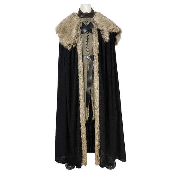 Costumes|||Cosplay|||Movie TV Drama Cosplay Costumes|||Game of Thrones===Jon Snow Costume Game of Thrones Season 8 Cosplay Leather Vest Boots Song of Ice and Fire Suit Halloween Men Outfit Custom Made