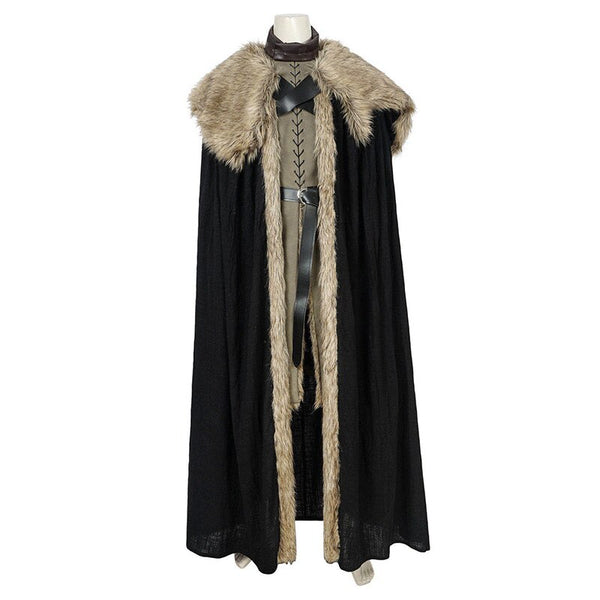 Jon Snow Costume Game of Thrones Season 8 Cosplay Leather Vest Boots Song of Ice and Fire Suit Halloween Men Outfit Custom Made