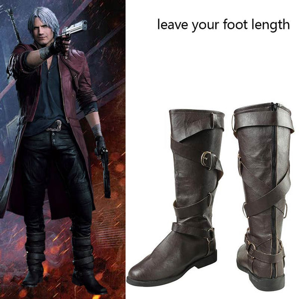 Costumes|||Cosplay|||Game Cosplay Costumes|||Assassins Creed Cosplay===Game Devil May Cry 5 Costume DMC5 Dante Cosplay Shoes Leather Adult Men Halloween Halloween Carnival Deluxe Shoes Custom Made
