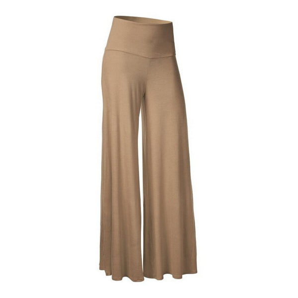 Femme Spring Autumn Mid Waist Wide Leg Trousers Simple Fashion Casual Women