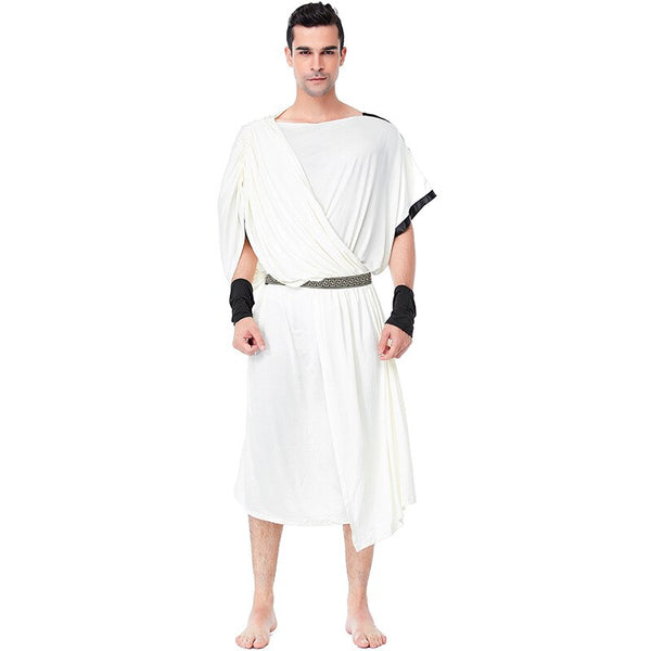 Umorden Men's Toga Costume Women's Greek Olympic Goddess Costumes Dress Halloween Carnival Purim Party Fancy Cosplay