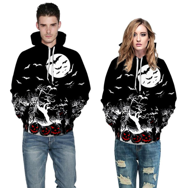 Clothing, Shoes & Accessories/Women's Clothing/Tops & Blouses---Hoodies Sweatshirt Pullover Felpa Uomo Halloween Horror Fall Women Men Pumpkin Print Long Sleeve Tops Mujer Sudadera