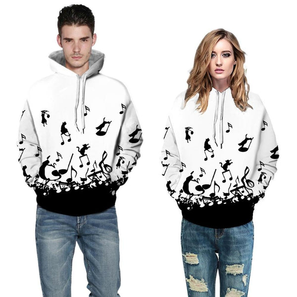 Hoodies Sweatshirt Pullover Felpa Uomo Halloween Horror Autumn Women Men Couples Print Long Sleeve Hooded Tops Sudadera