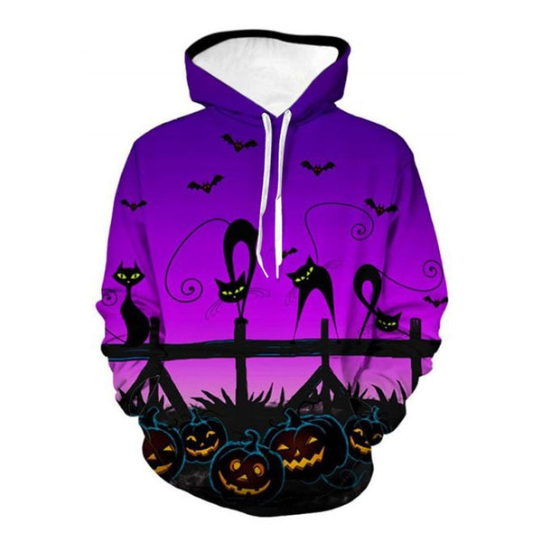 Clothing, Shoes & Accessories/Women's Clothing/Tops & Blouses---Sweatshirt Pullover Winter Fashion Women Halloween Scary Pumpkin Long Sleeve Print Top Sudadera Mujer Femme Plus Size