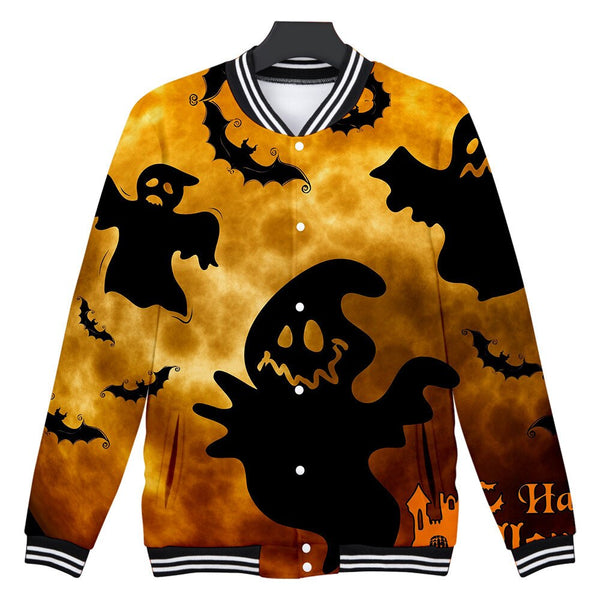 Trendy Stranger Things Hoodies Mens Casual Scary Halloween Lover Print Party Long Coat Top Blouse More Colors