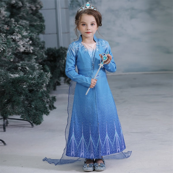 Halloween Costume For Kids Girl 4 8 10 Years Cosplay Clothes Party Dress Princess Dresses For Girls Anna Elsa Birthday Dress Up