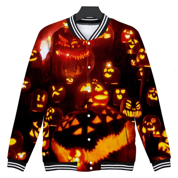 Clothing, Shoes & Accessories/Women's Clothing/Tops & Blouses---Trendy Stranger Things Hoodies Mens Casual Scary Halloween Lover Print Party Long Coat Top Blouse More Colors