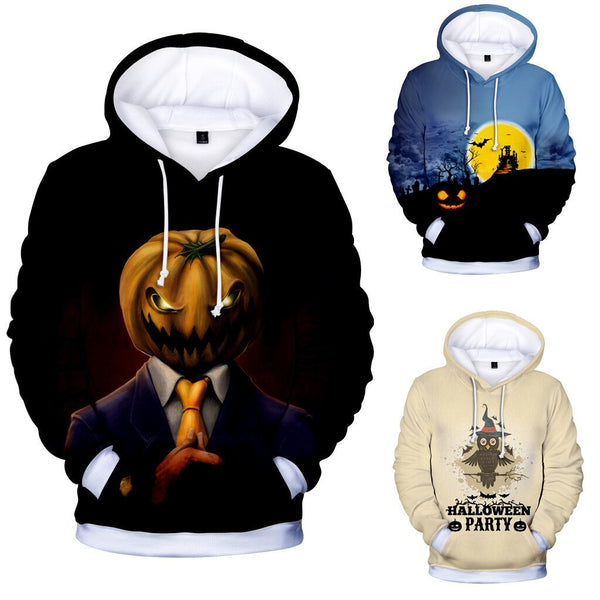 Clothing, Shoes & Accessories/Women's Clothing/Tops & Blouses---Halloween Hoodie Stranger Things Mens Casual Scary Lover Print Party Long Sleeve Coat Top Blouse