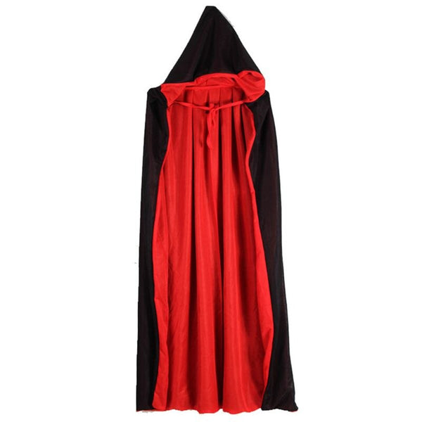 Vampire Cloak Cape Stand-up Collar Cap Red Black Reversible Halloween Costume Themed Party Cosplay Men Women